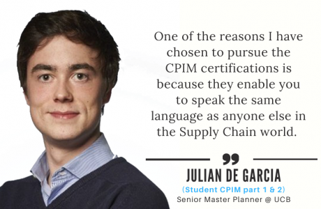 APICS CPIM Credential Success Story - Julian De Garcia